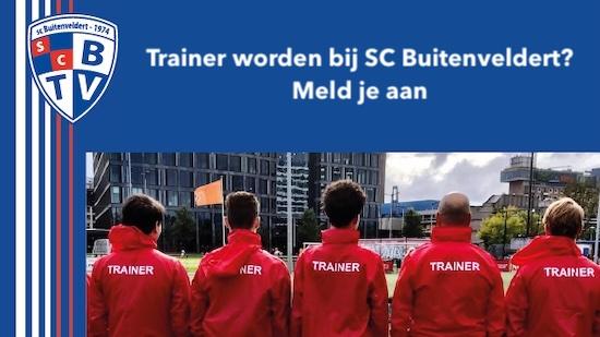 Trainer worden bij SC Buitenveldert?  Meld je aan